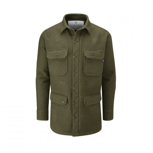 McNair men's merino jacket in Dark Sage