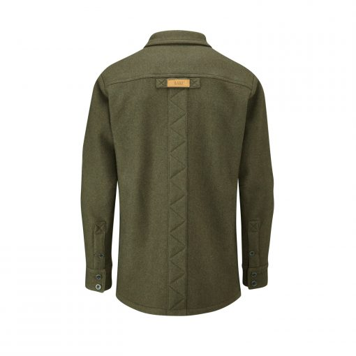 McNair men's merino jacket in Dark Sage (back)