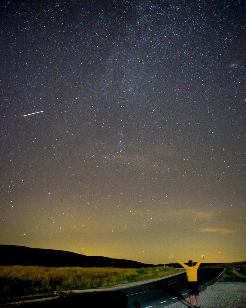 Starry night sky at Ribblehead