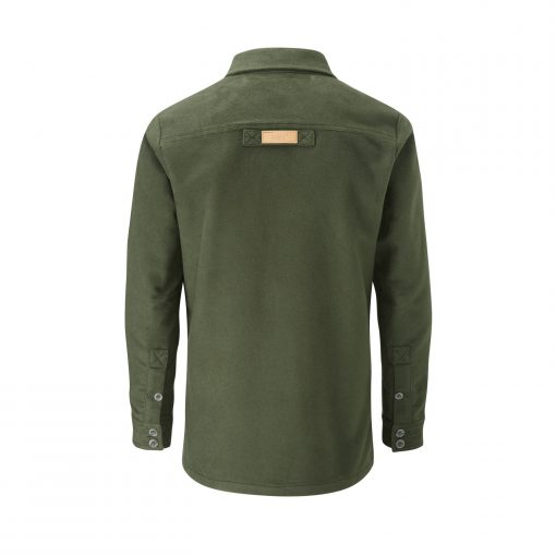 McNair men's PlasmaDry Olive Force shirt (back)