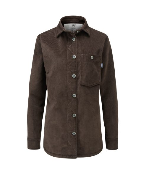 McNair women's PlasmaDry Work Shirt in Peat Brown