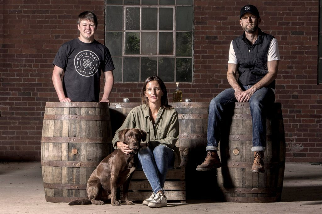 The team at White Peak Distillery
