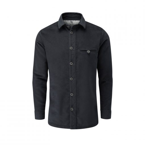 McNair men's moleskin Beck Shirt in Storm Grey