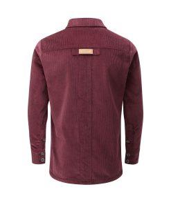 McNair men's corduroy Work shirt in Mulberry
