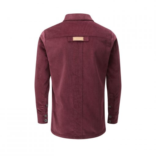 McNair men's corduroy Work shirt in Mulberry