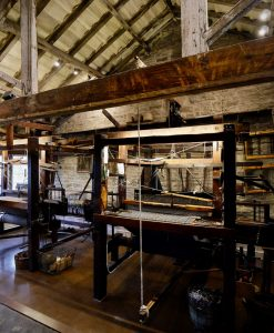Traditional weaving at the Colne Valley Museum