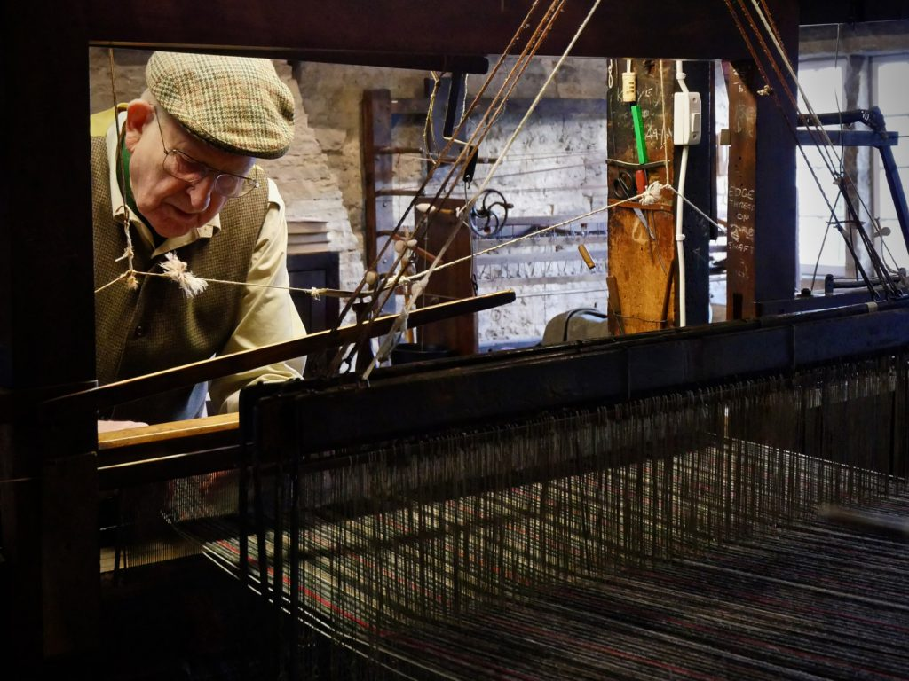 Weaving at the Colne Valley Museum
