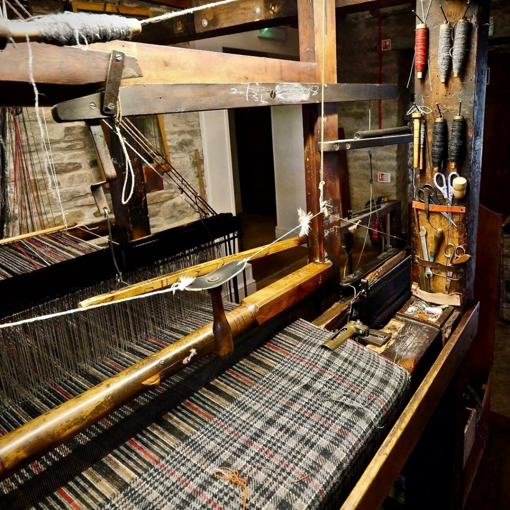 Fabric being woven at the Colne Valley Museum
