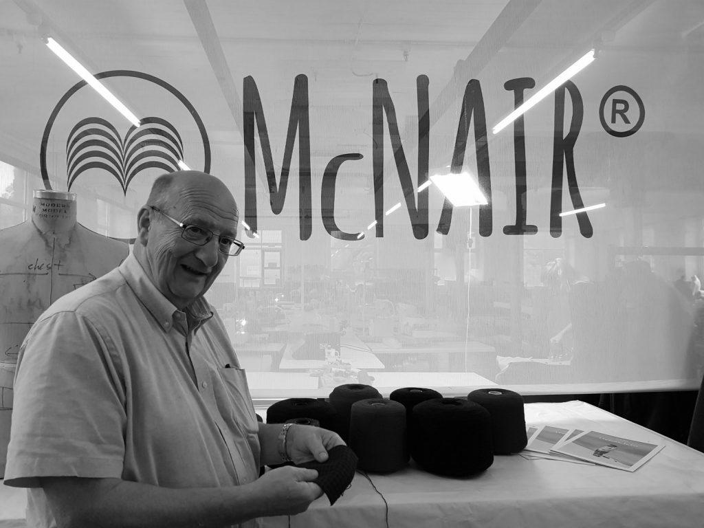 Raymond Ellis visiting McNair Shirts