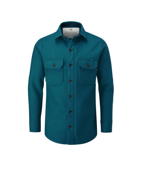 McNair men's merino Mountain Shirt in Lagoon