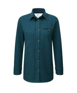 McNair women's merino Fell Shirt in Lagoon