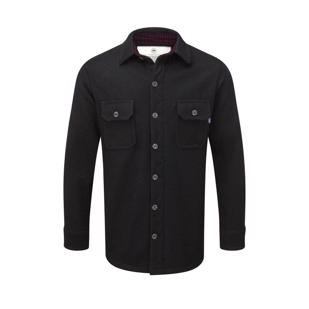 McNair men's merino shirt - special edition in black with Colne Valley trim
