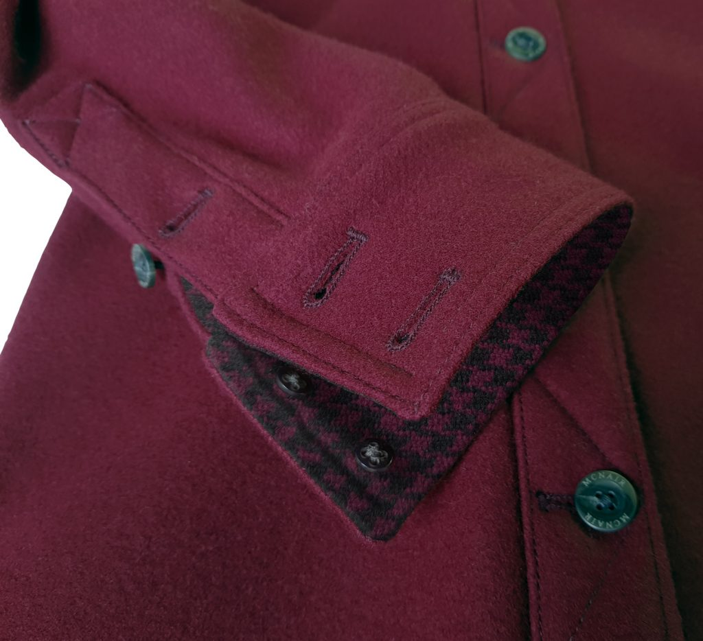 McNair merino shirt in Heather with special edition Colne Valley trim