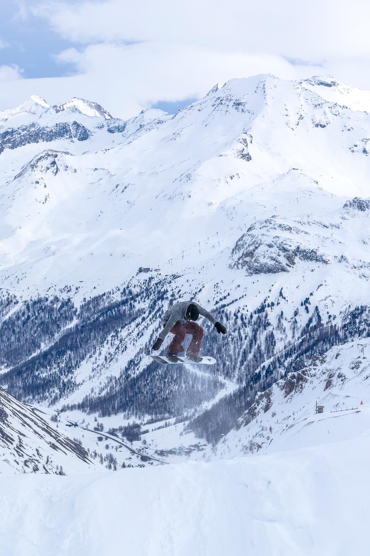 Snowboarding in a McNair Shirt