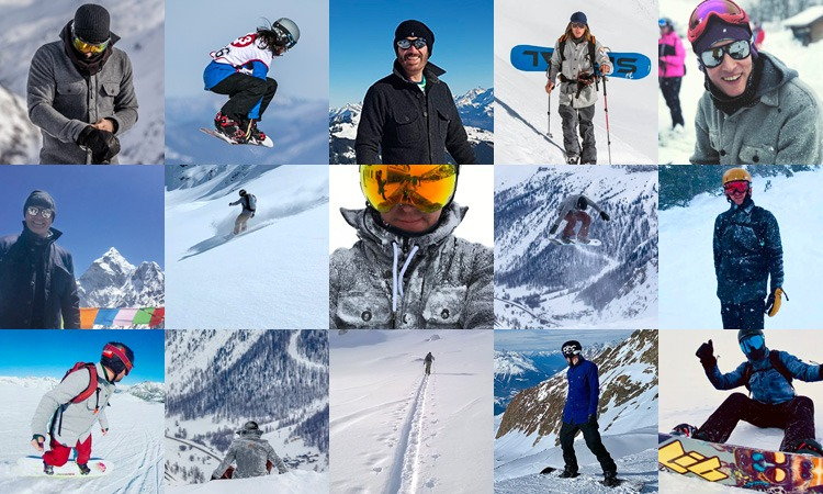 Montage of McNair Mountain Shirts being worn in the mountains and on the slopes