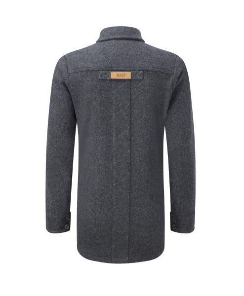 Women's Provenance AG Charcoal Melange merino Fell Shirt - back