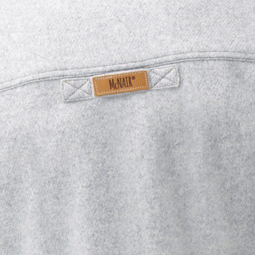 McNair Arctic Silver merino Gilet - back label