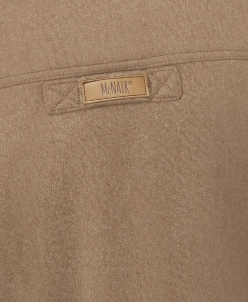 McNair Camel merino Gilet - back label