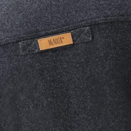 McNair Charcoal merino Gilet - back label
