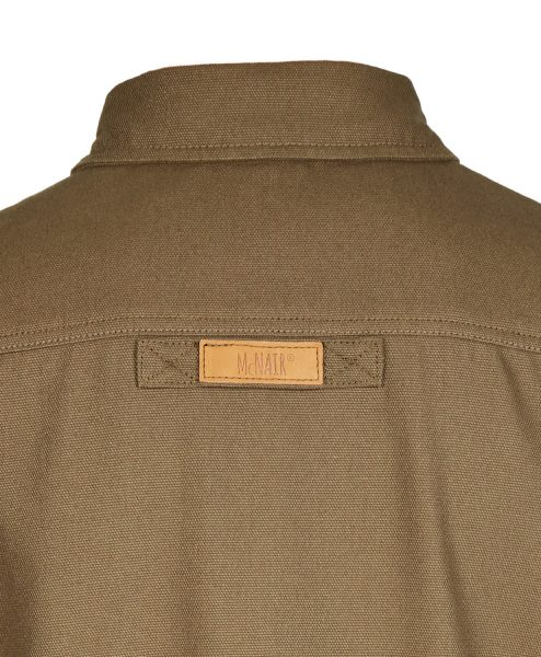 McNair PlasmaDry Canvas Work Shirt in bronzed olive (back)