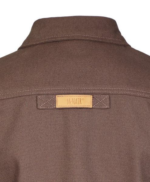 McNair PlasmaDry Canvas Work Shirt in earth brown (back)