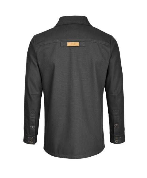 McNair men's PlasmaDry Canvas Work Shirt in black (back)