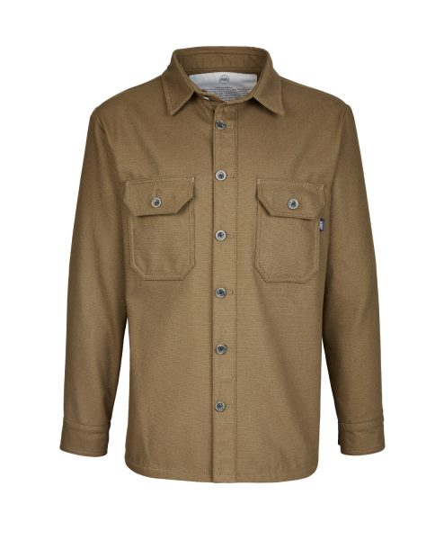McNair men's PlasmaDry Canvas Work Shirt in bronzed olive