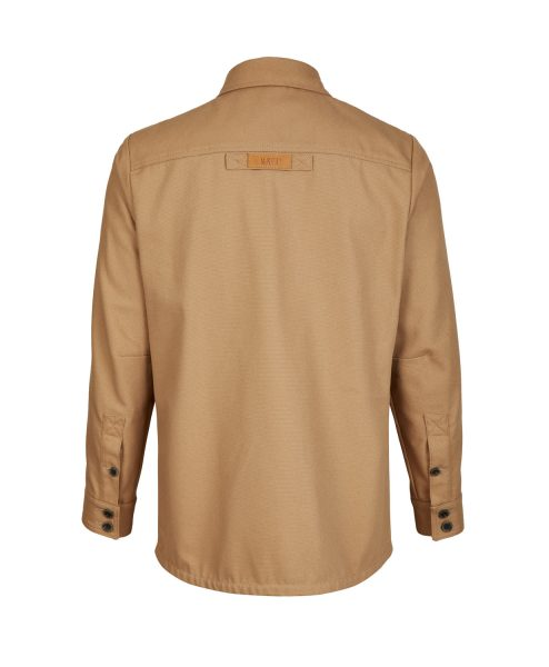 McNair men's PlasmaDry Canvas Work Shirt in sand (back)