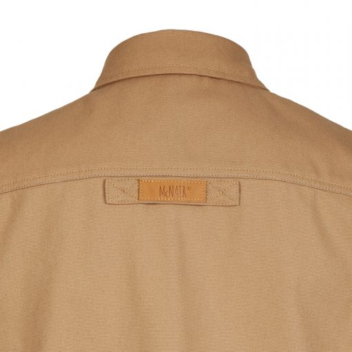 McNair PlasmaDry Canvas Work Shirt in sand (back)