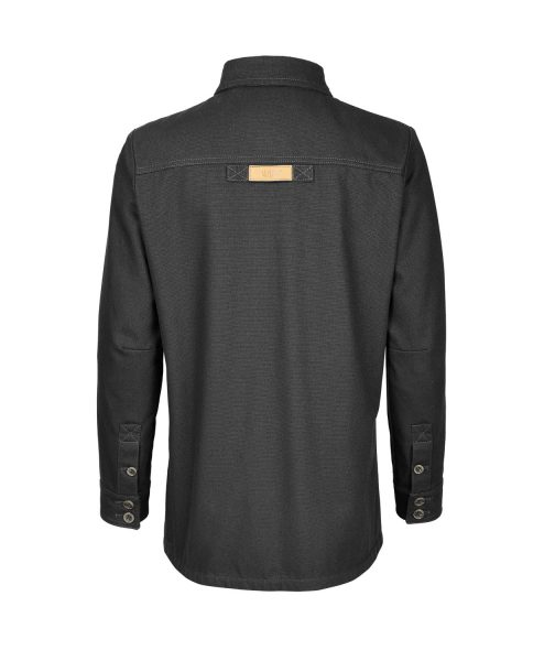 McNair women's PlasmaDry Canvas Work Shirt in black (back)