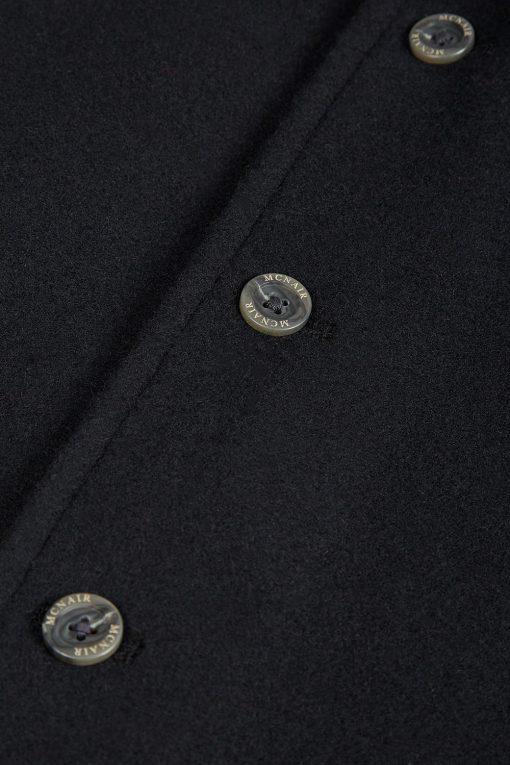 McNair heavyweight merino Valley Gilet - button detail