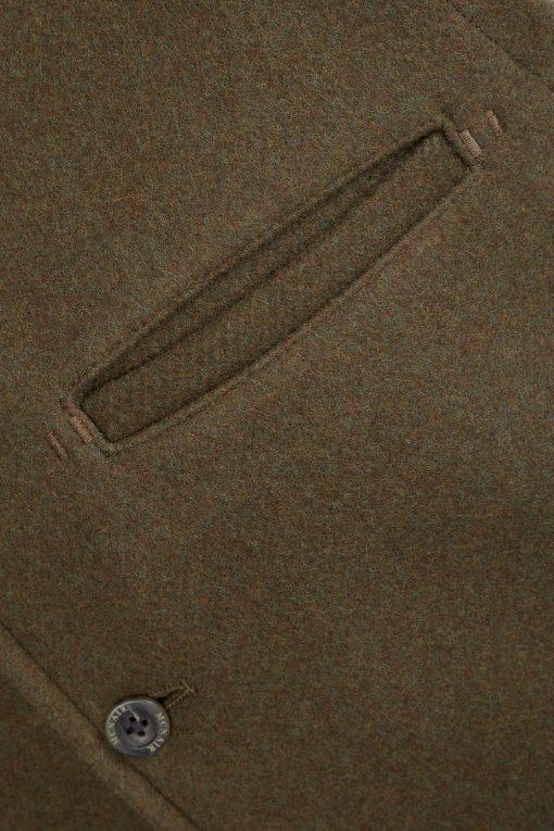McNair heavyweight merino Valley Gilet - pocket detail