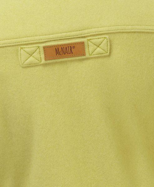 McNair English Mustard merino Gilet - back label