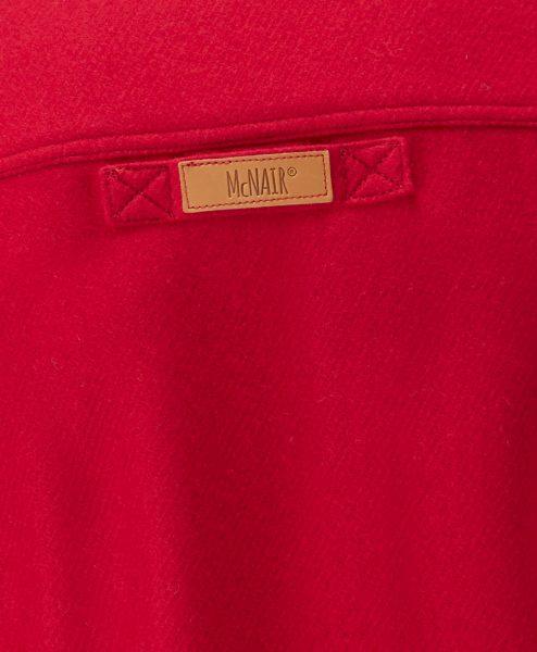 McNair Chilli Red merino Gilet - back label