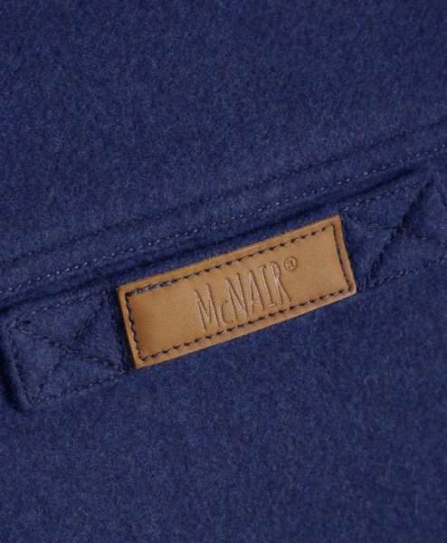 McNair Slawit Blue merino Gilet - back label